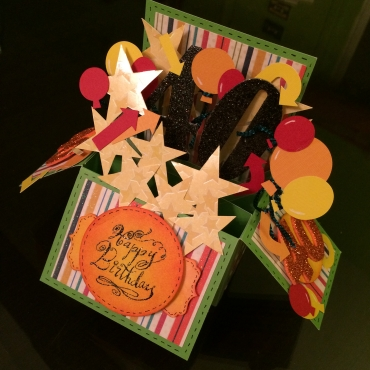 40th Birthday Explosion Card