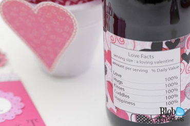 Adored gift basket bottle label