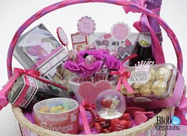 Adored gift basket details