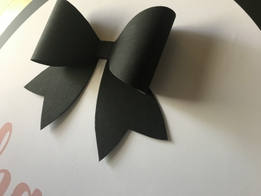 Black Bow backdrop detail