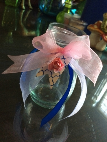 Blue Floral Glasses