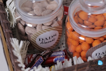 Fathers Day Basket Custom jars