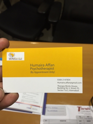 Humaira Affan Business cards
