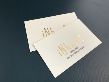 Inherit gold foil Business cards