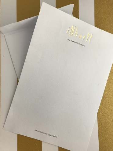 Inherit gold foil envelope
