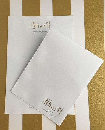 Inherit gold foil letterhead