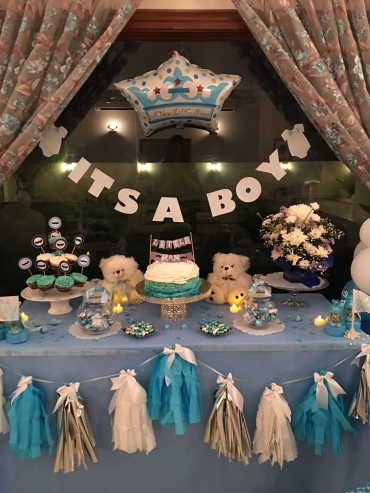 Its a boy table decor