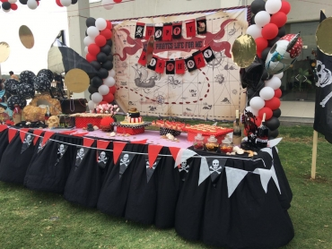 Pirate decor and backdrop