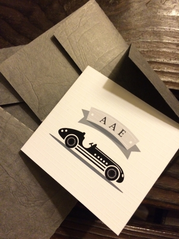 Retro Car Thank You Card