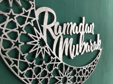 Silver Ramdan Mubarak Wall Hanging