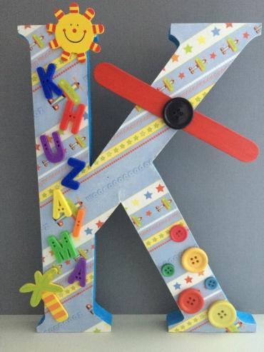 Summer Plane standing alphabet