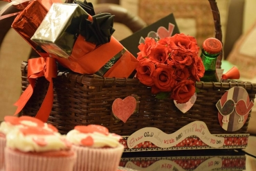 Valentines day surprise basket