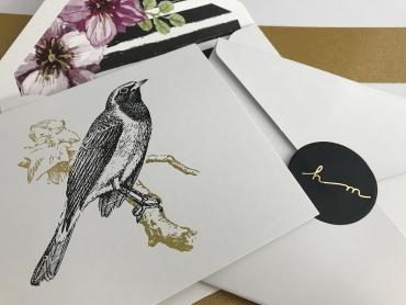 Vintage Bird-A2 Card set