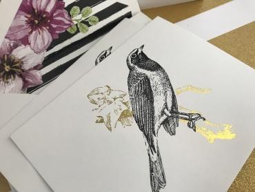 Vintage Bird-A2 Cards